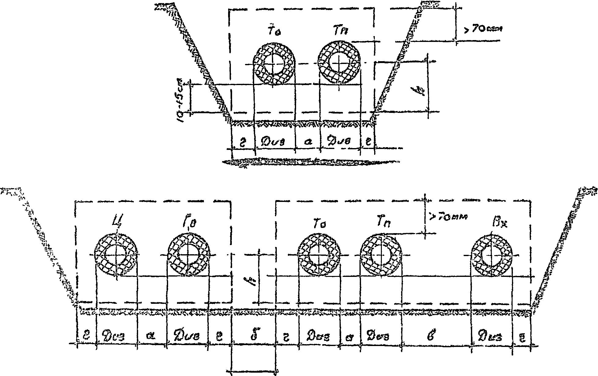 Расстояние между трубопроводами