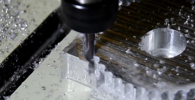 Процесс фрезеровки алюминия