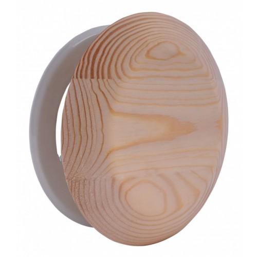 Вентиляционная заглушка из дерева