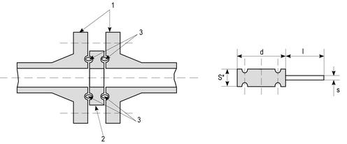 Заглушки поворотные под прокладку овального сечения