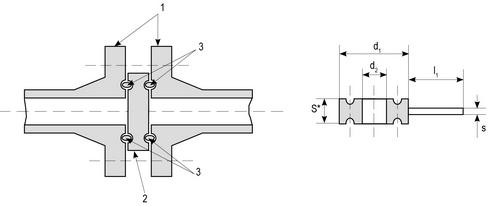 Заглушки поворотные под прокладку овального сечения с рукояткой