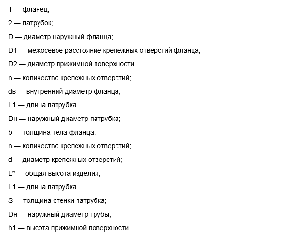 Фланцы ОСТ 34.10.425-90 обозначения