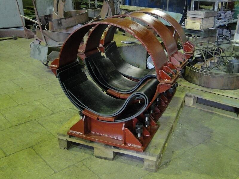 внешний вид опор трубопровода