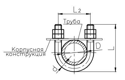 подвеска судовых трубопроводов