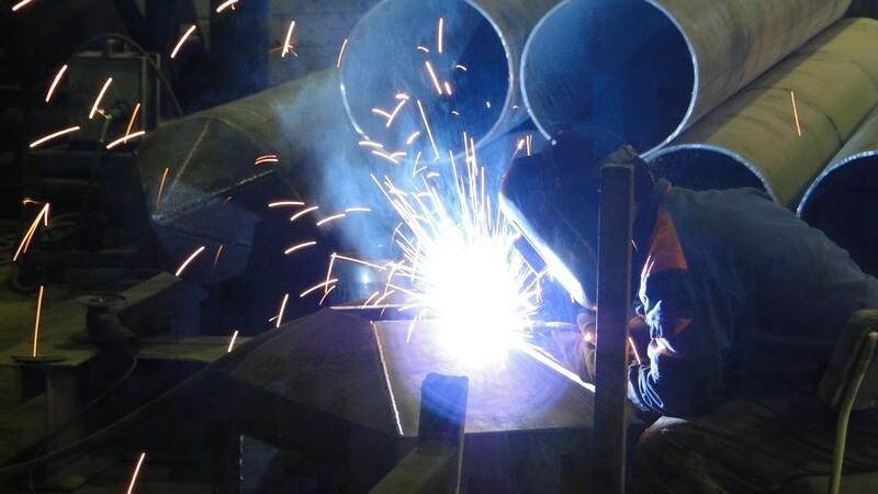 сварка опор трубопровода