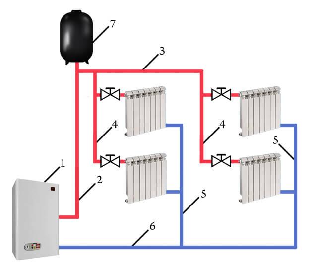 схема подключения воздухосборника
